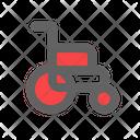 Wheel Chair Health Care Icon