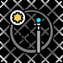 Wheel Chambre Color Icon