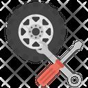 Wheel Detailing Tyre Repairing Wheel Alignment Icon