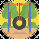 Wheel Swing Childhood Icon