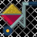 Filled Wheelbarrow Icon