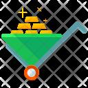 Wheelbarrow Gold Bricks Icon