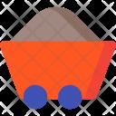 Wheelbarrow Coal Trolley Icon