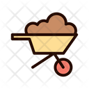 Wheelbarrow Grain Brick Icon