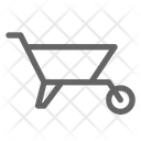 Wheelbarrow Construction Cart Icon