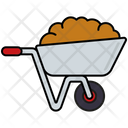 Wheelbarrow Soil Dung Icon