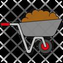 Wheelbarrow Soil Dung Icon