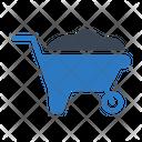 Wheelbarrow Handtruck Construction Icon