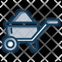 Wheelbarrow Barrow Construction Cart Icon