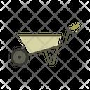 Wheelbarrow Cart Garden Icon