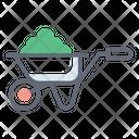 Wheelbarrow Push Trolley Mulch Icon