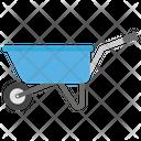 Wheelbarrow Hand Carriage Construction Cart Icon