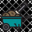 Wheelbarrow Farm Farming Icon