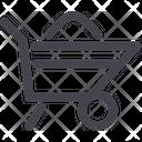 Wheelbarrow Cart Construction Icon