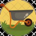 Wheelbarrow Gardening Tool Farming Icon
