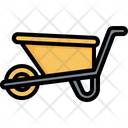 Wheelbarrow Farming Gardening Icon