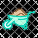 Wheelbarrow Worms Compost Icon