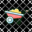Wheelbarrow Cart Farm Icon