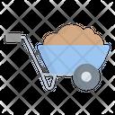 Wheelbarrow Trolley Cart Icon