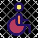 Wheelchair Handicap Wheel Icon