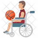 Wheelchair Player Wheelchair Basketball Disabled Sports Icon