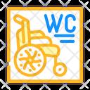 Wheelchair Toilet Icon