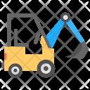 Wheeled Excavator Icon