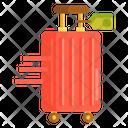 Wheeled Luggage Trolley Bag Suitcase Icon