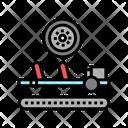 Wheels Installing Car Icon