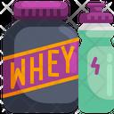 Whey Protein Fitness Icon