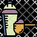 Whey Supplement Bottle Icon