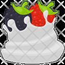 Berries Tart Berries Whip Whipped Cream Icon