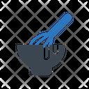 Whisk Mixer Bowl Icon