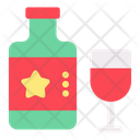 Whisky New Year Celebration Icon