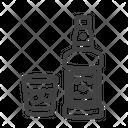 Whisky On The Rocks Alcoholic Beverage Icon