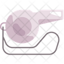Whistle Referee Basketball Icon