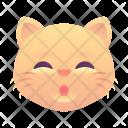 Whistle Cat Emoji Icon