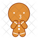 Cheerful Face Gingerbread Icon