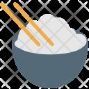 White Rice Bowl Icon