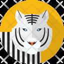 White Tiger Animal Icon