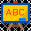 White Board Elearning Language Icon