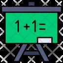White Board Math Calss Blackboard Icon