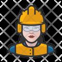 White Crew Female Construction Construction White Icon