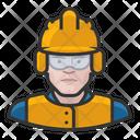White Crew Male Construction Construction Crew Icon