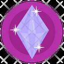 Gemstone White Diamond Emerald Icon