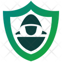 White Hacker Secure Protection Icon