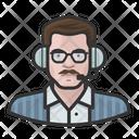 White Male Announcer Tv Announcer Icon