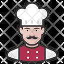 White Male Chef Chef White Icon