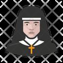 White Nun Catholic Clergy Icon