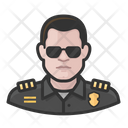 White Police Officer Police Officer Icon